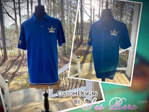 Crowned Hebrew Israelite Polo Style Shirt