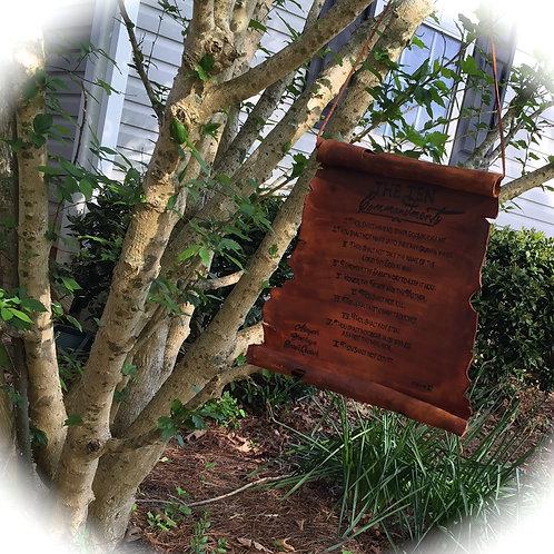 Ten Commandment Scroll
