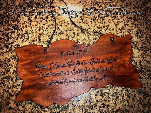 Custom (Favorite Scripture) Leather Wall Hanger