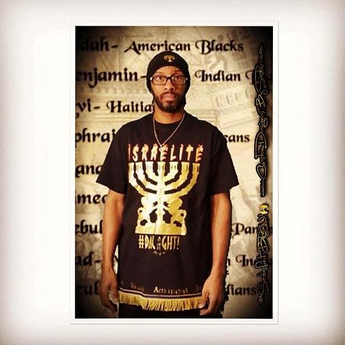 The LIGHT - Israelite w Menorah Shirt
