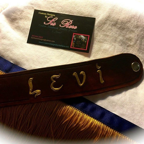 Tribal Custom Leather Wrist Cuff