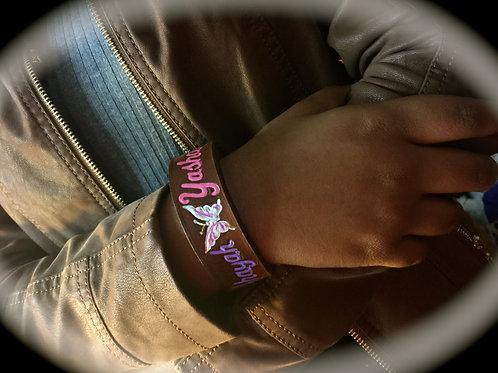Ahayah ~ Yashaya BUTTERFLY Leather Wrist Cuff