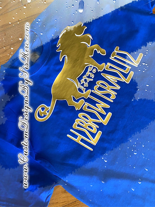 Hebrew Israelite (Paleo Hebrew & English Letters) w Lion Shirt