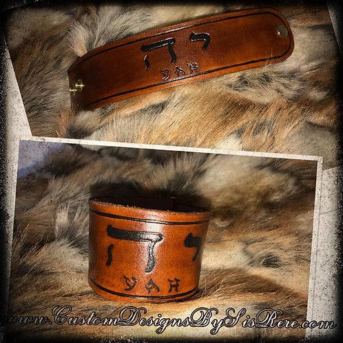 YAH Custom Leather Wrist Cuff