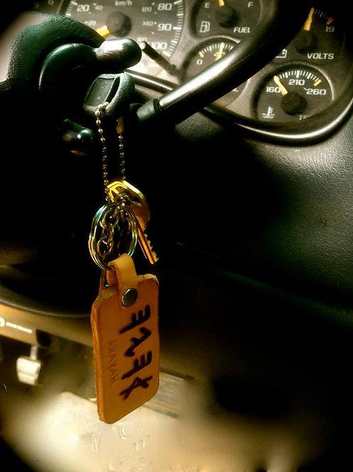 Custom Leather Keychain