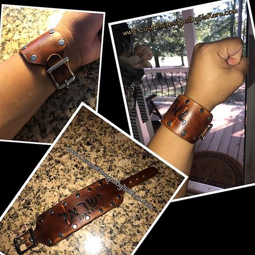 Studded Buckle Wrist Cuff