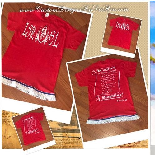 Israel w Lion ~ Israel ~ 12 Tribes Shirt