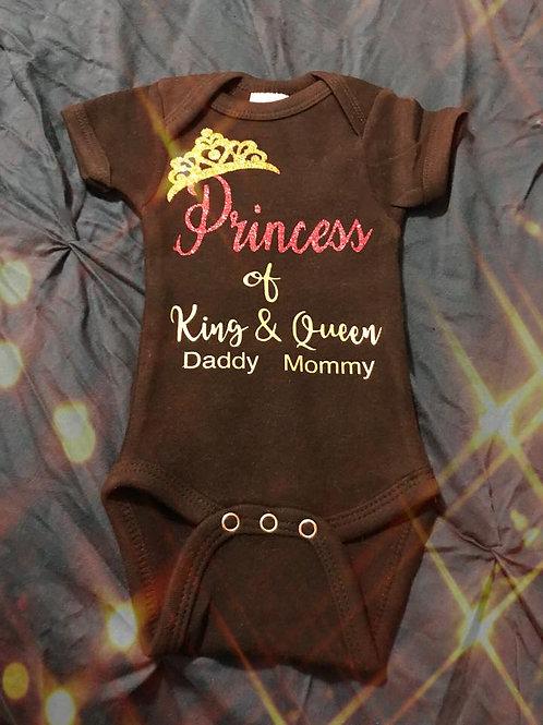 Princess or Prince Baby Onsie