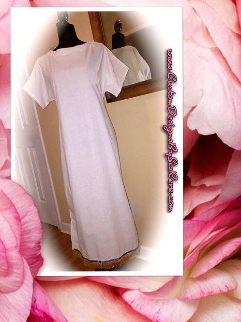Sister Elegant Dove Fringed Bordered Garment