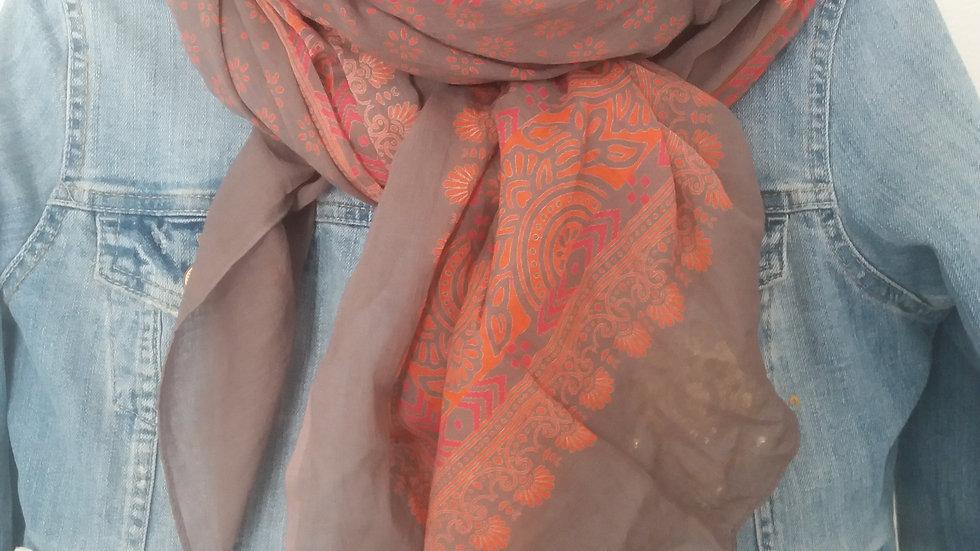 Schal/Tuch Rot/Orange/Braun