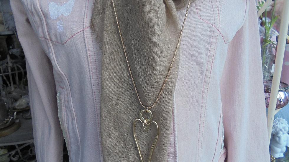 Halskette Goldfarbenes Herz