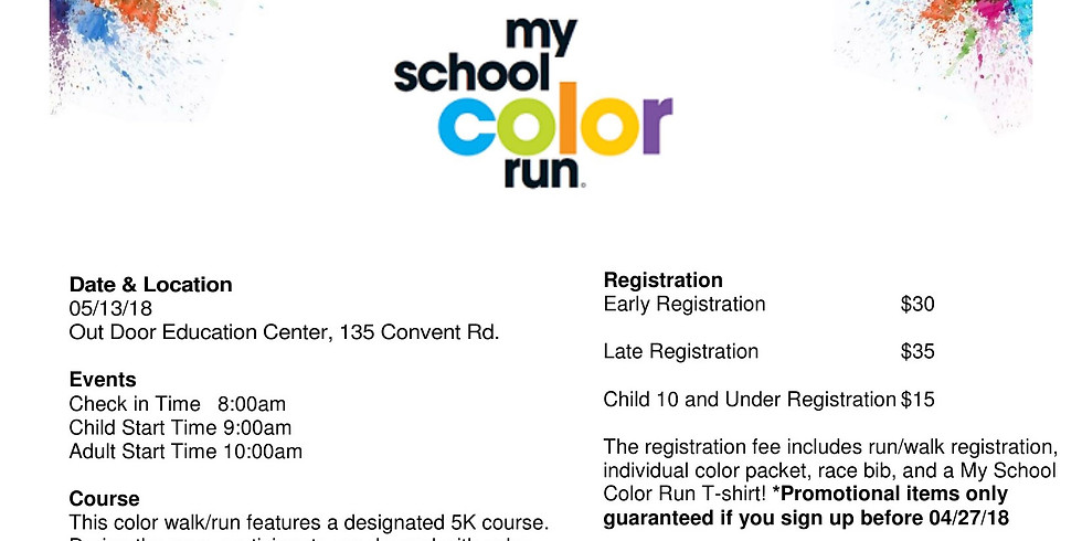 Black and Gold Color Run