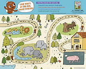 Gingerbread Loose in the Zoo Poster