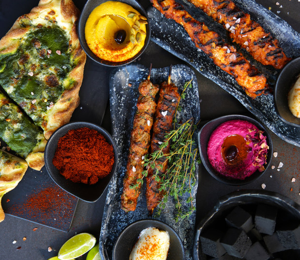 Spiced Lamb Char-grilled Skewers