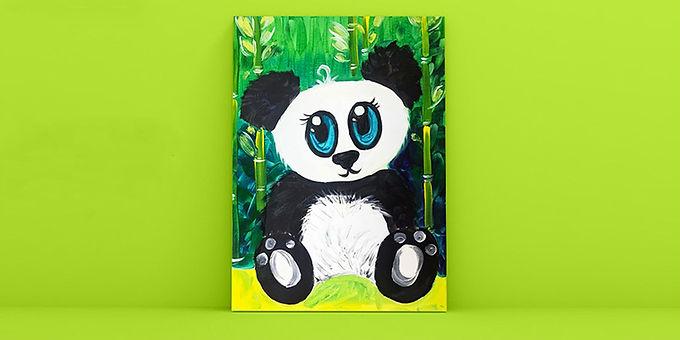 Family Paint: Playful Panda