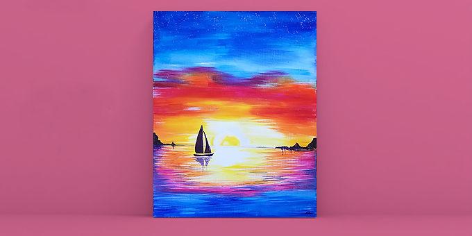 Moreton Bay Sunset Sky