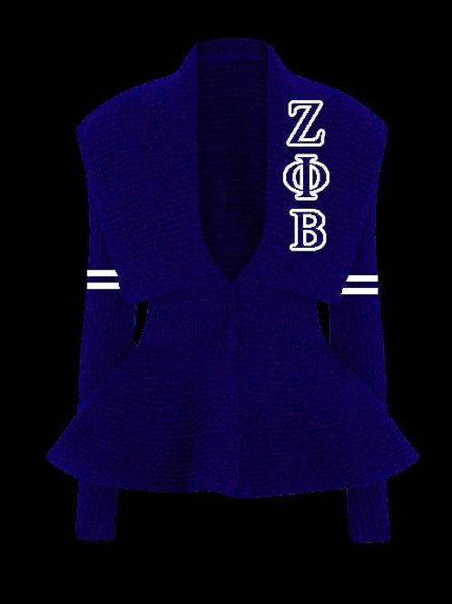 Peplum Varsity Sweater-Zeta