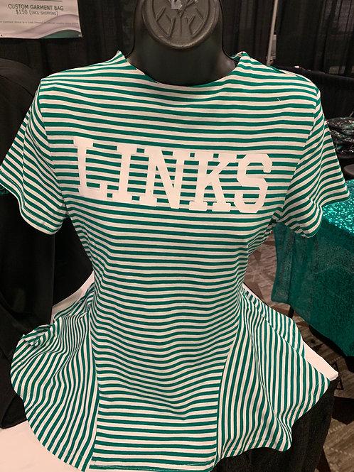 LINKS Striped Peplum
