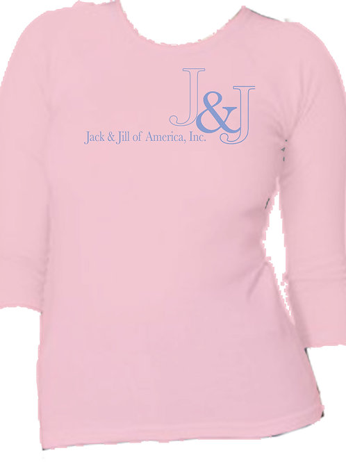 Jack and Jill - Pink 3/4 sleeve