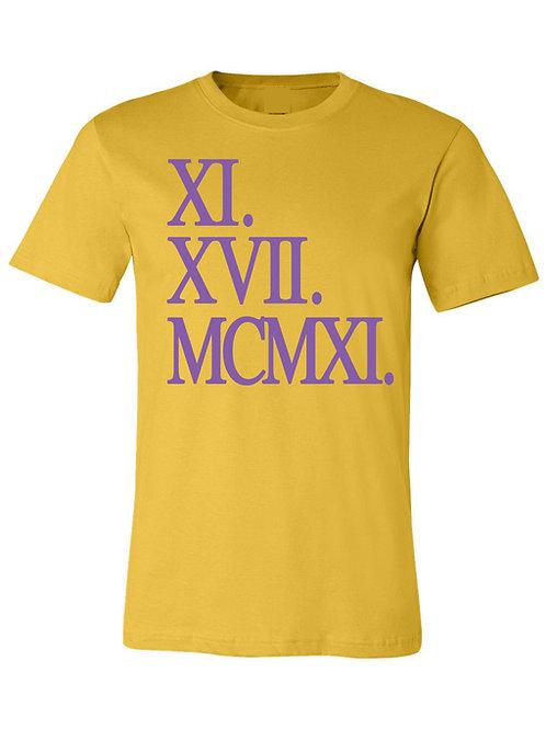 XI.XVII.MCMXI Tee