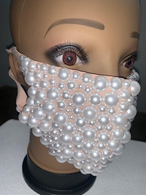 Pearled Mask - NUDE
