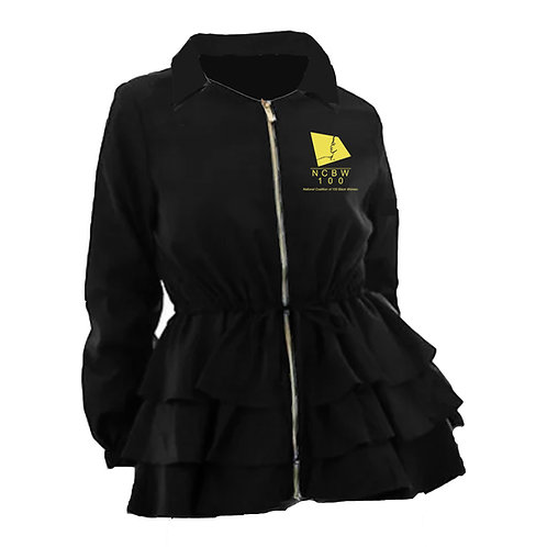 NCBW Peplum Line Jacket - BLACK