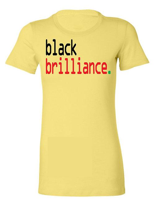 black brilliance tee- Afrocentric - ladies