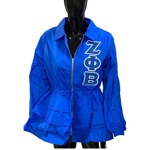 Peplum Line Jacket - ZΦΒ blue