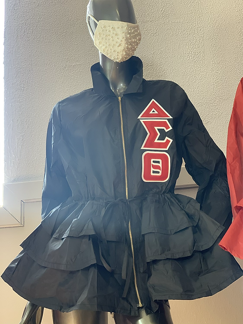 Peplum Line Jacket - ΔΣΘ black