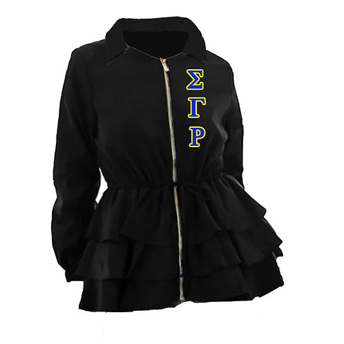 Peplum Line Jacket - ΣΓΡ black