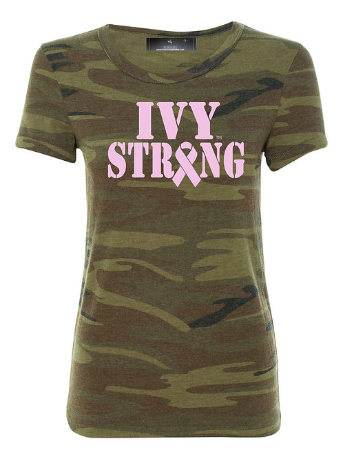 Ivy Strong Ribbon Camo Tee
