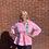 Thumbnail: Peplum Line Jacket-AKA pink