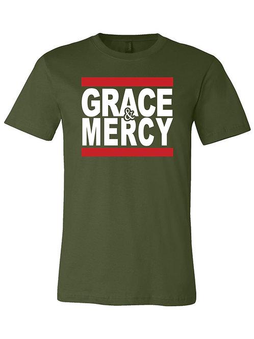 GRACE & MERCY TEE- green