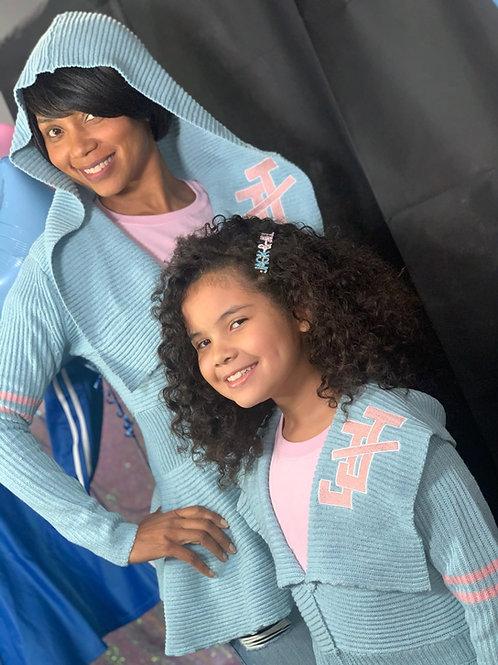 Peplum Varsity Sweater - Blue JJ (girls)