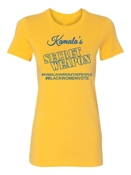 Kamala's Secret Weapon Tee-gold