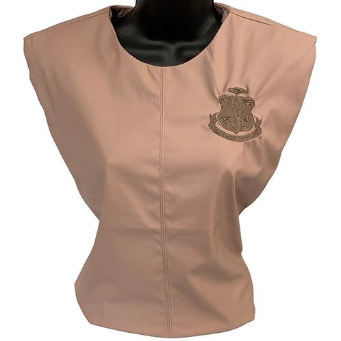 Pink Structured PU Leather Top -AKA
