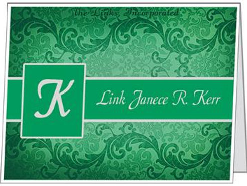 Personalized Link Note Cards (FOLDED)