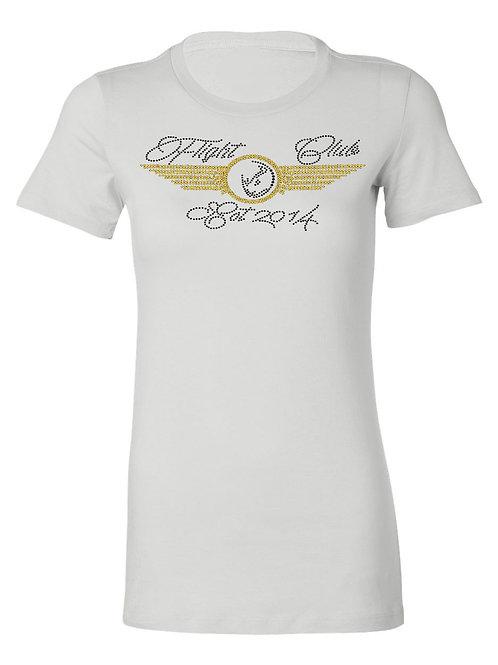LADIES FLIGHT CLUB Tshirt-Crewneck (White)
