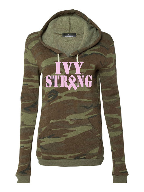 Ivy Strong Ribbon Camo Hoodie