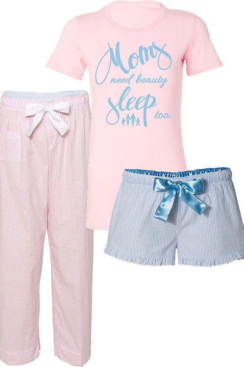 JJ Seersucker 3pc. Pajama Set