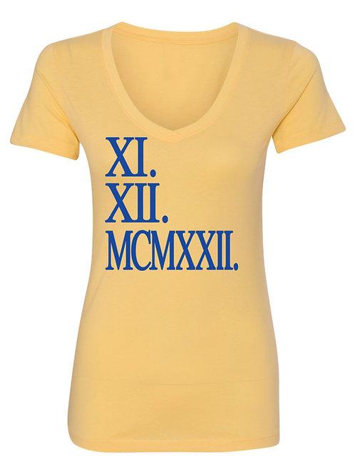 XI. XII. MCMXXII Tee