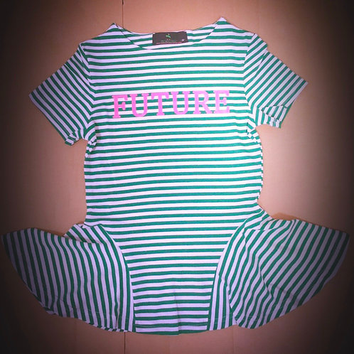 Future Couture Soror Striped Tshirt