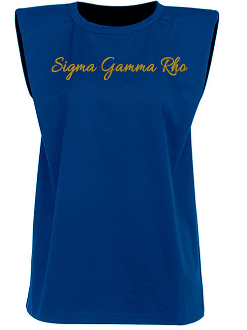 Blue Structured Tee -SGRho