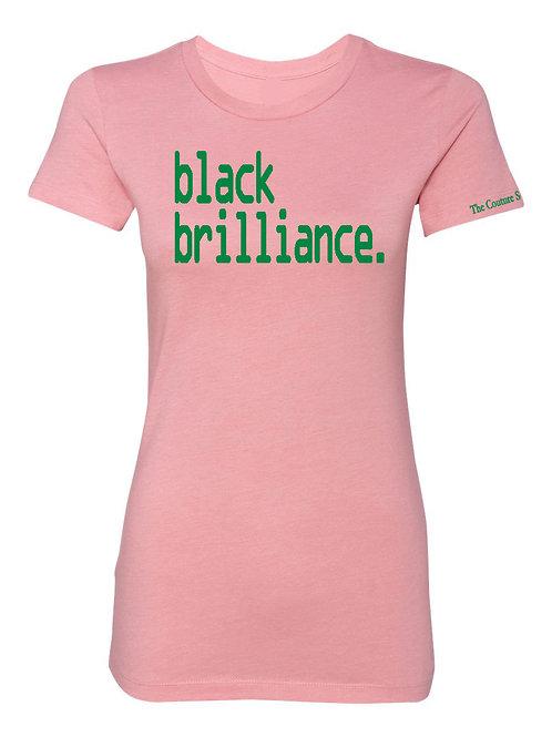 Black Brilliance Tee-Salmon