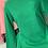 Thumbnail: AKA GREEN Embossed Peplum Sweatshirt