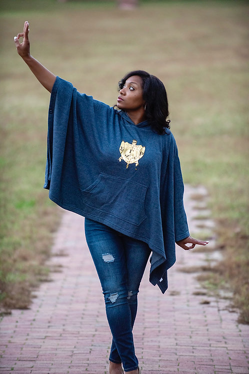 SGRHO CHROME FLEECE PONCHO