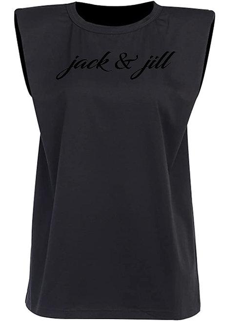 Black Structured Tee -JJ