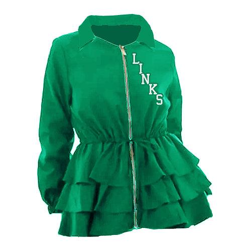 Peplum Line Jacket - LINKS green