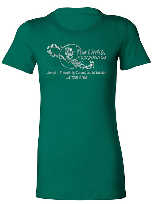 CENTRAL AREA Links Logo Tee-Green