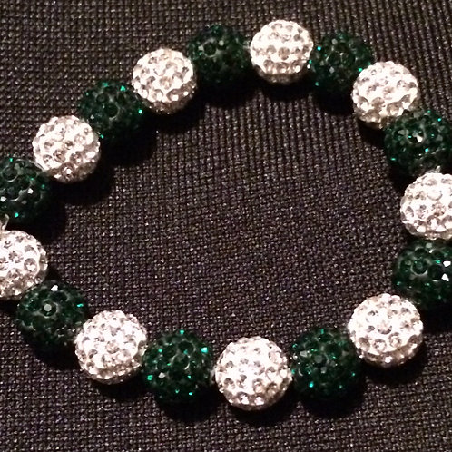 Emerald and White BLING BRACELET